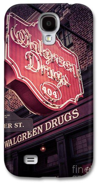 Vintage Walgreen Drugs Store Neon Sign Galaxy S4 Case by Edward Fielding