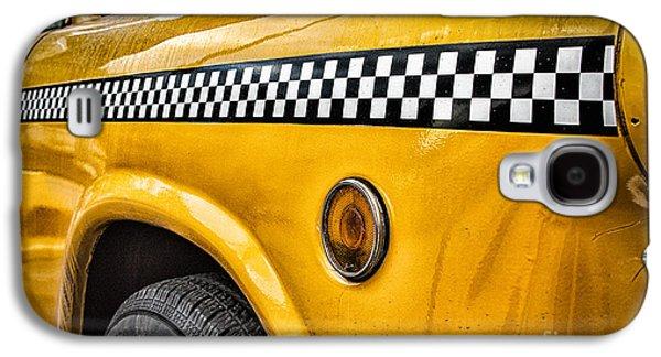 Vintage Yellow Cab Galaxy S4 Case by John Farnan