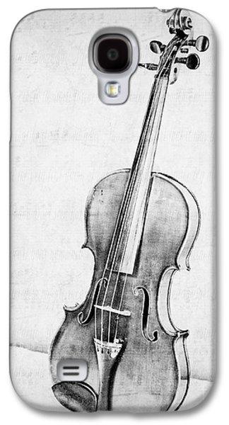 Violin In Black And White Galaxy S4 Case