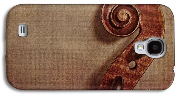Violin Galaxy S4 Case - Violin Scroll by Emily Kay