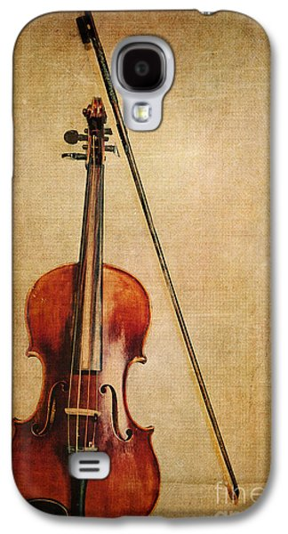 Violin With Bow Galaxy S4 Case by Emily Kay