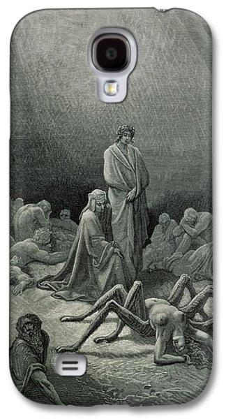 Virgil And Dante Looking At The Spider Woman, Illustration From The Divine Comedy Galaxy S4 Case by Gustave Dore
