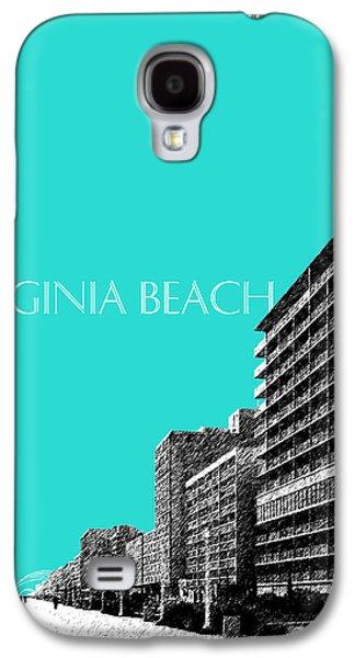 Virginia Beach Skyline Boardwalk  - Aqua Galaxy S4 Case