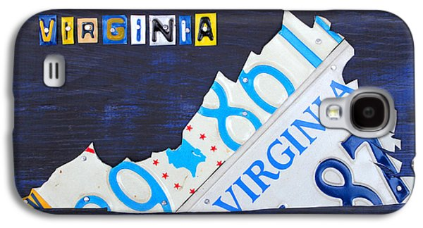 Virginia License Plate Map Art Galaxy S4 Case