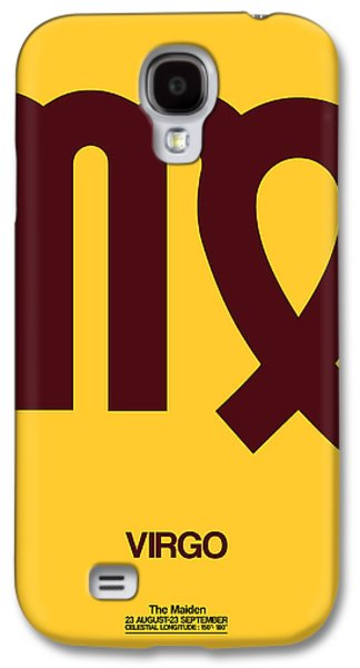 Virgo Zodiac Sign Brown Galaxy S4 Case by Naxart Studio
