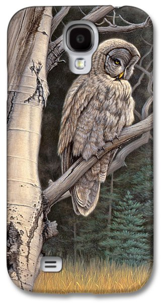 Visitor From The North-great Grey Owl Galaxy S4 Case by Paul Krapf