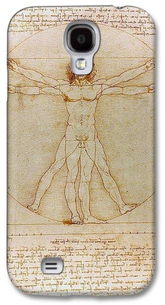 Vitruvian Man By Leonardo Da Vinci  Galaxy S4 Case