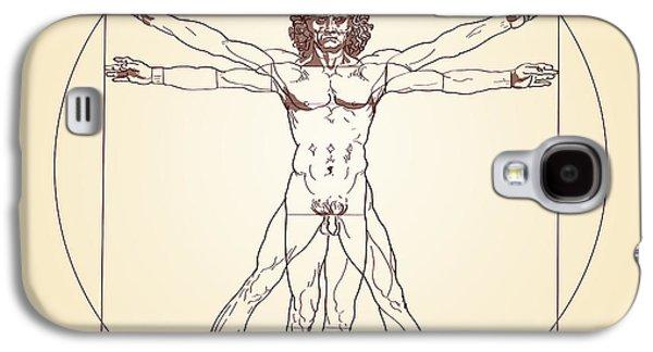 Vitruvian Man Leonardo Da Vinci Galaxy S4 Case