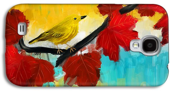Warbler Galaxy S4 Case - Vividness by Lourry Legarde