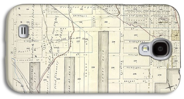 Vol. 5. Plate, S. Map Bound By Lorraine St., Hamilton Ave Galaxy S4 Case by Litz Collection