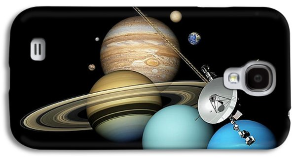 Voyager 2 And Planets Galaxy S4 Case by Carlos Clarivan