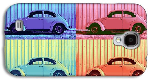 Vw Beetle Pop Art Quad Galaxy S4 Case
