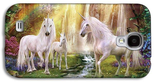 Waaterfall Glade Unicorns Galaxy S4 Case by Jan Patrik Krasny