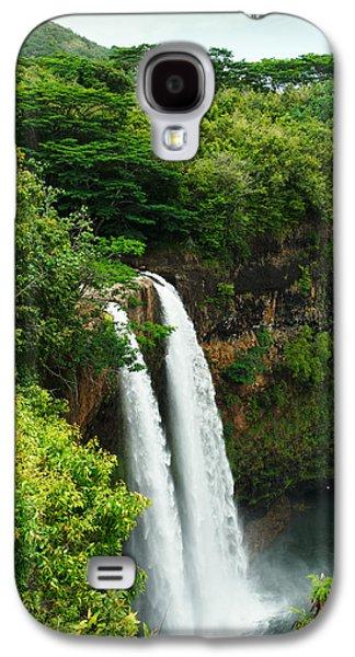 Wailua Falls Kauai Galaxy S4 Case by Photography  By Sai
