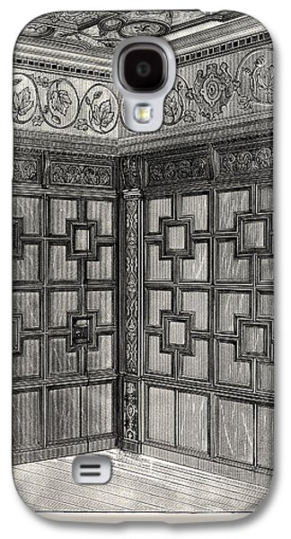Wainscot And Pargetry, Carbrooke Hall, A Historic House Galaxy S4 Case by English School
