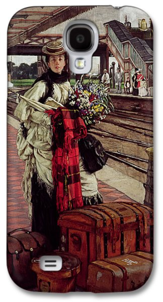 Waiting At The Station, Willesden Junction, C.1874 Galaxy S4 Case by James Jacques Joseph Tissot