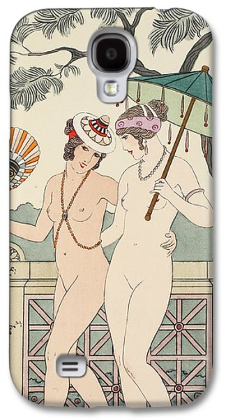 Walking Around Naked As Much As We Can Galaxy S4 Case by Joseph Kuhn-Regnier