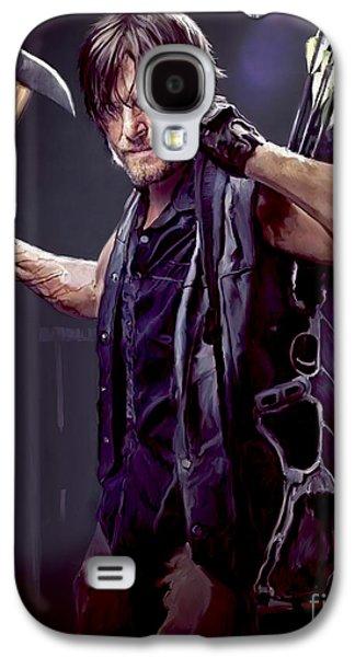 Rolling Stone Magazine Galaxy S4 Case - Walking Dead - Daryl Dixon by Paul Tagliamonte