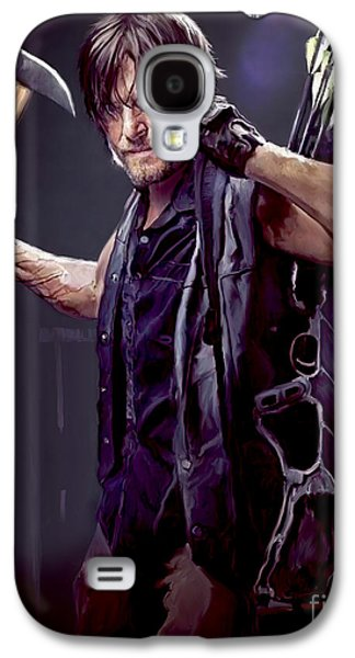 Walking Dead - Daryl Dixon Galaxy S4 Case by Paul Tagliamonte