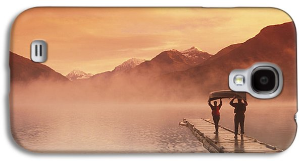 Walking On Dock Robe Lake  Sunrise Sc Galaxy S4 Case by Michael DeYoung