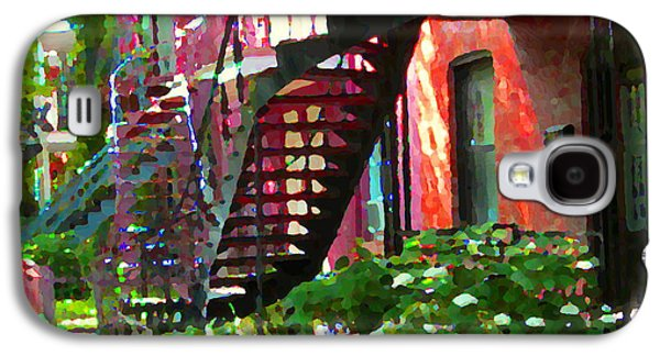 Walking Verdun Spiral Staircases Graceful Circular Steps Montreal Colorful Scenes Carole Spandau  Galaxy S4 Case by Carole Spandau