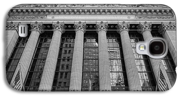 Wall Street New York Stock Exchange Nyse Bw Galaxy S4 Case by Susan Candelario