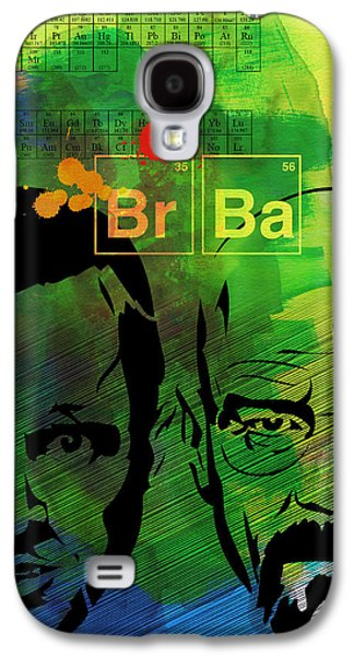 Walter And Jesse Watercolor Galaxy S4 Case by Naxart Studio