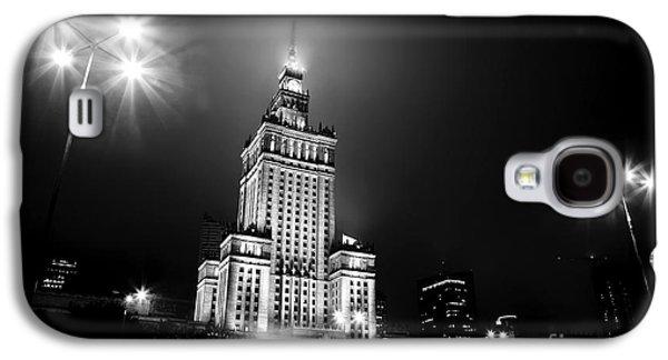 Warsaw Poland Downtown Skyline At Night Galaxy S4 Case