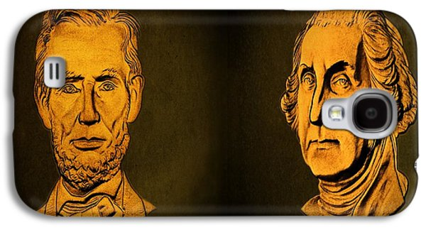 Washington And Lincoln Galaxy S4 Case by David Dehner