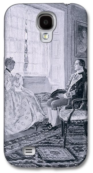 Washington And Mary Philipse, Illustration From Colonel Washington By Woodrow Wilson, Pub Galaxy S4 Case by Howard Pyle