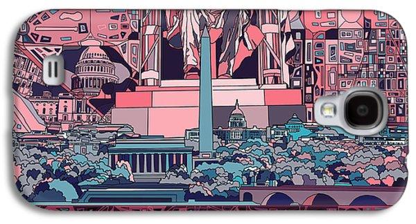Lincoln Memorial Galaxy S4 Case - Washington Dc Skyline Abstract 2 by Bekim Art
