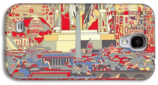 Lincoln Memorial Galaxy S4 Case - Washington Dc Skyline Abstract 6 by Bekim Art