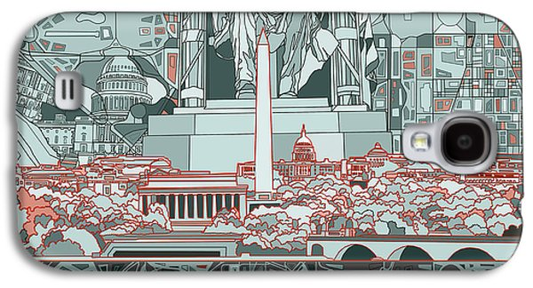 Lincoln Memorial Galaxy S4 Case - Washington Dc Skyline Abstract by Bekim Art