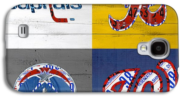 Washington Dc Sports Fan Recycled Vintage License Plate Art Capitals Redskins Wizards Nationals Galaxy S4 Case by Design Turnpike