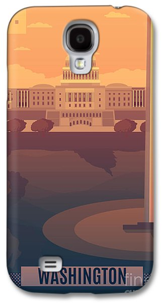 Travel Galaxy S4 Case - Washington Vector Landescape.washington by Travel Drawn
