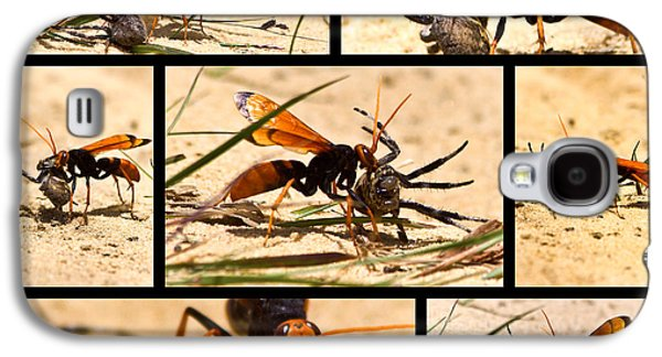 Galaxy S4 Case featuring the photograph Wasp And His Kill by Miroslava Jurcik