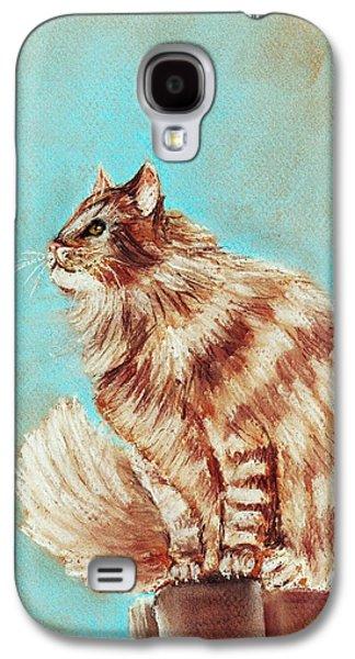 Watch Cat Galaxy S4 Case by Anastasiya Malakhova