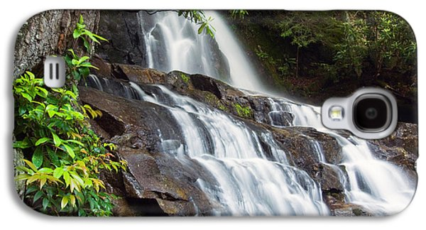 Water Cascading Over Rocky Cliffs Galaxy S4 Case by Panoramic Images