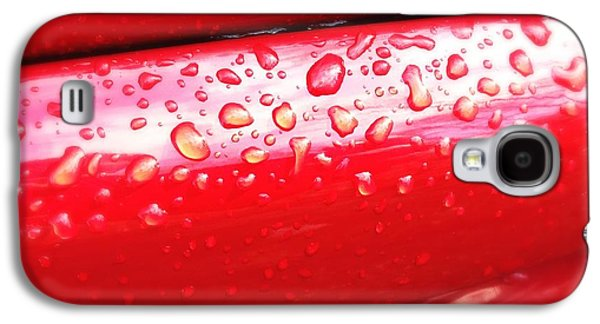 Water Drops On Red Car Paint Galaxy S4 Case