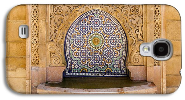 Water Fountain Mausoleum Of Mohammed V Opposite Hassan Tower Rabat Morocco  Galaxy S4 Case