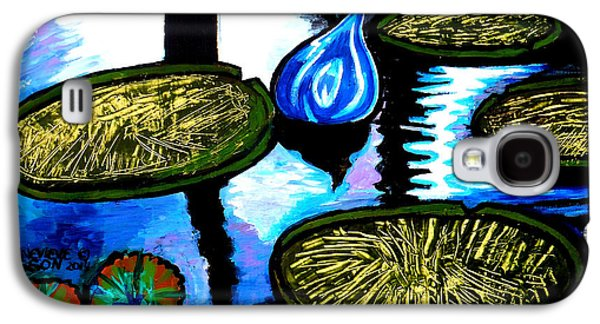 Water Lilies And Chihuly Glass Baubles At Missouri Botanical Garden Galaxy S4 Case by Genevieve Esson