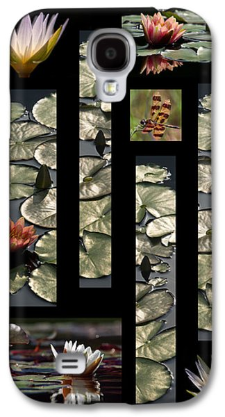 Water Lily Collage Galaxy S4 Case