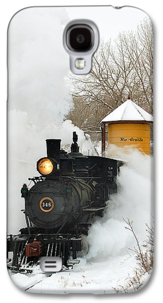 Train Galaxy S4 Case - Water Tower Behind The Steam by Ken Smith