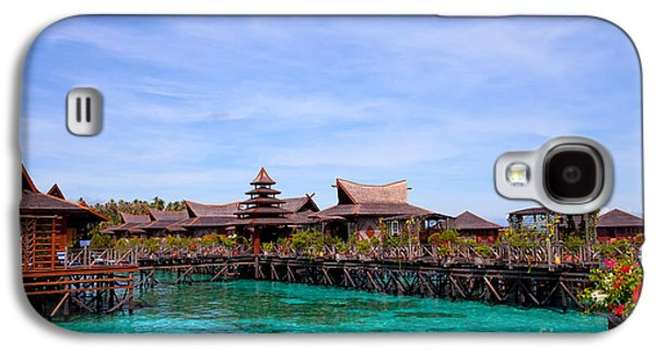 Water Village Borneo Malaysia Galaxy S4 Case by Fototrav Print