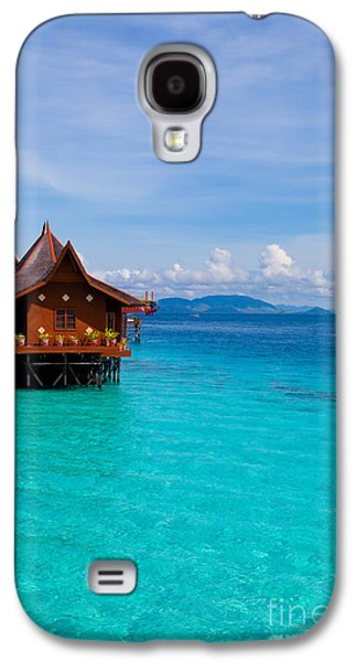 Water Village On Mabul Island Borneo Malaysia Galaxy S4 Case by Fototrav Print