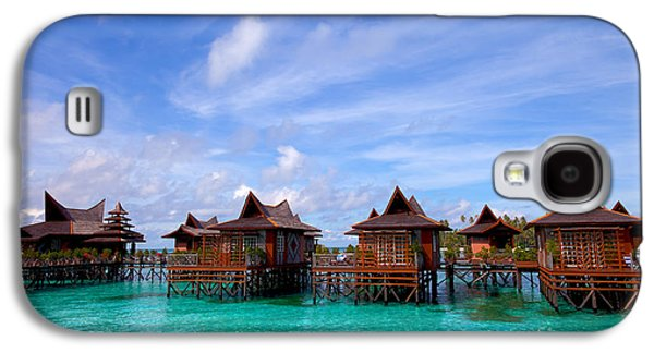 Water Village On Mabul Island Sipadan Borneo Malaysia Galaxy S4 Case by Fototrav Print