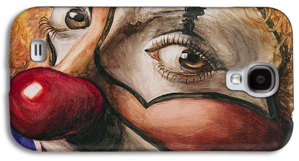 Watercolor Clown #1 Galaxy S4 Case