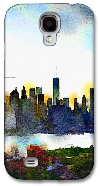 Watercolor Manhattan Galaxy S4 Case by Natasha Marco