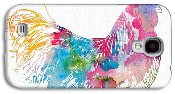 Watercolor Rooster Galaxy S4 Case