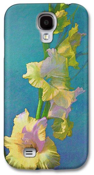 Watercolor Study Of My Garden Gladiolas Galaxy S4 Case
